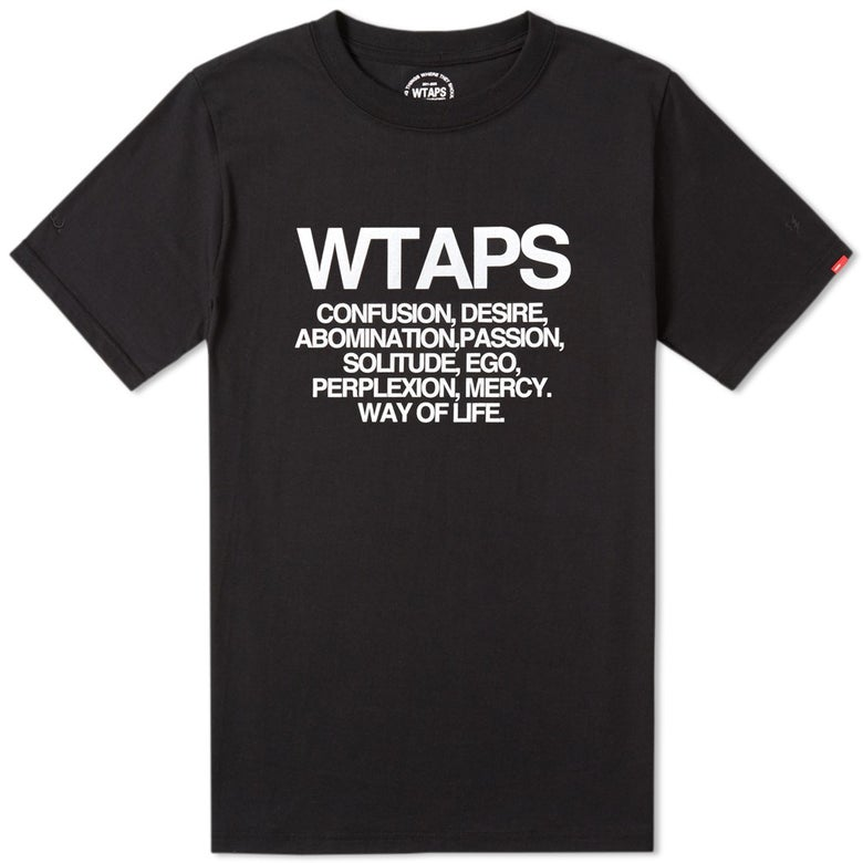 Image of Wtaps - Contain Tee (Black)