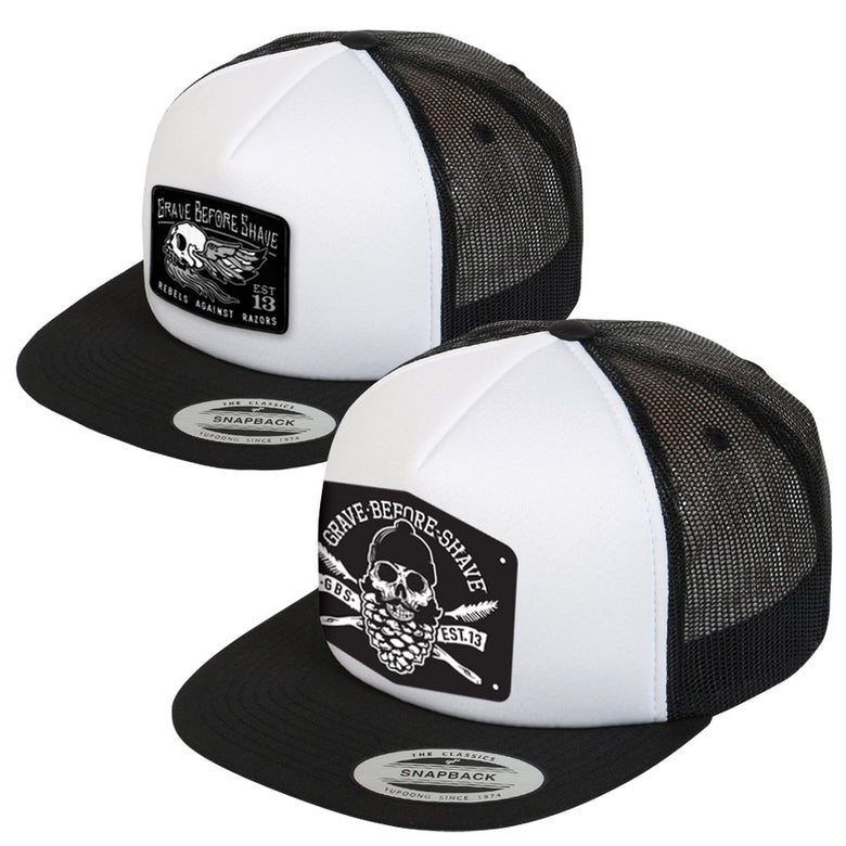 Image of GRAVE BEFORE SHAVE™  Trucker hat
