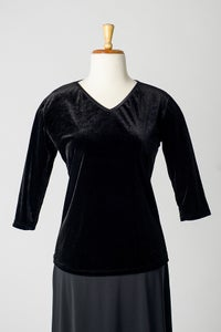 Image of V-Neck Velvet Top