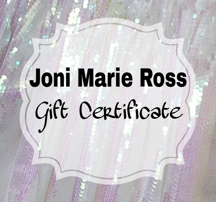 Image of Joni Marie Ross Gift Certificate