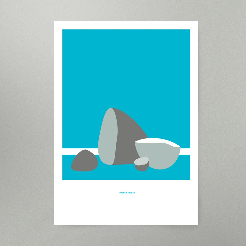 Image of Broken Stones Art Print
