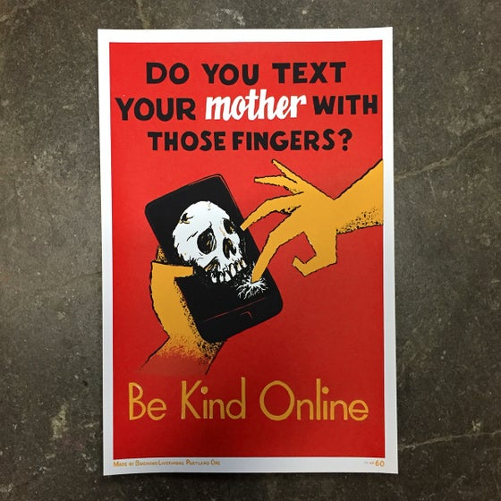 Image of Be Kind Online Screenprint