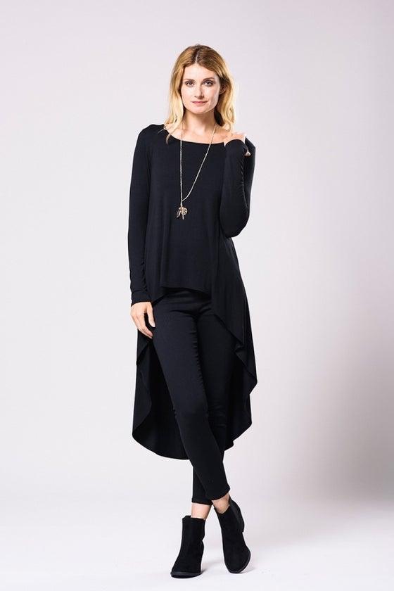 Image of Black Hi-low Shirt