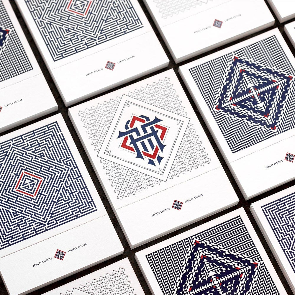 Image of A77 Letterpress Cards - Limited Edition Series of 3 - Full Set
