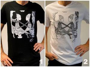 Image of Nneka Painting - Men Shirt (black, white)