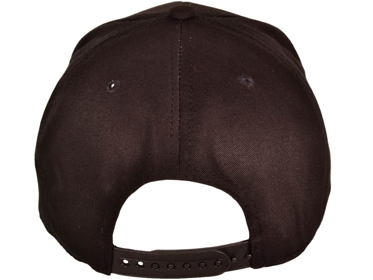 Image of MVA WHITE CURSIVE 3D EMBROIDERY on Black snapback hat