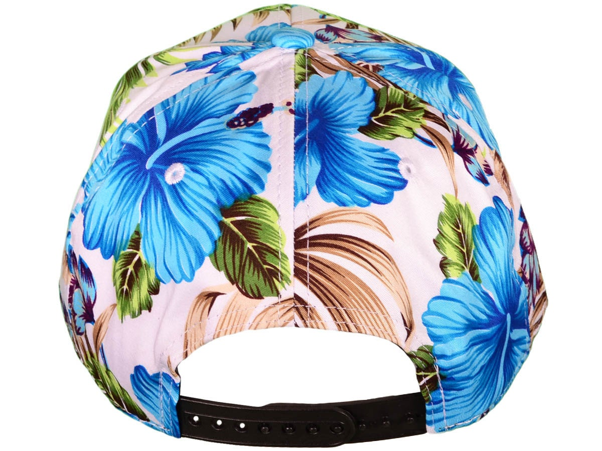 Image of MV Hat - Blue Floral with 3D 'VEGAN' EMBROIDERY