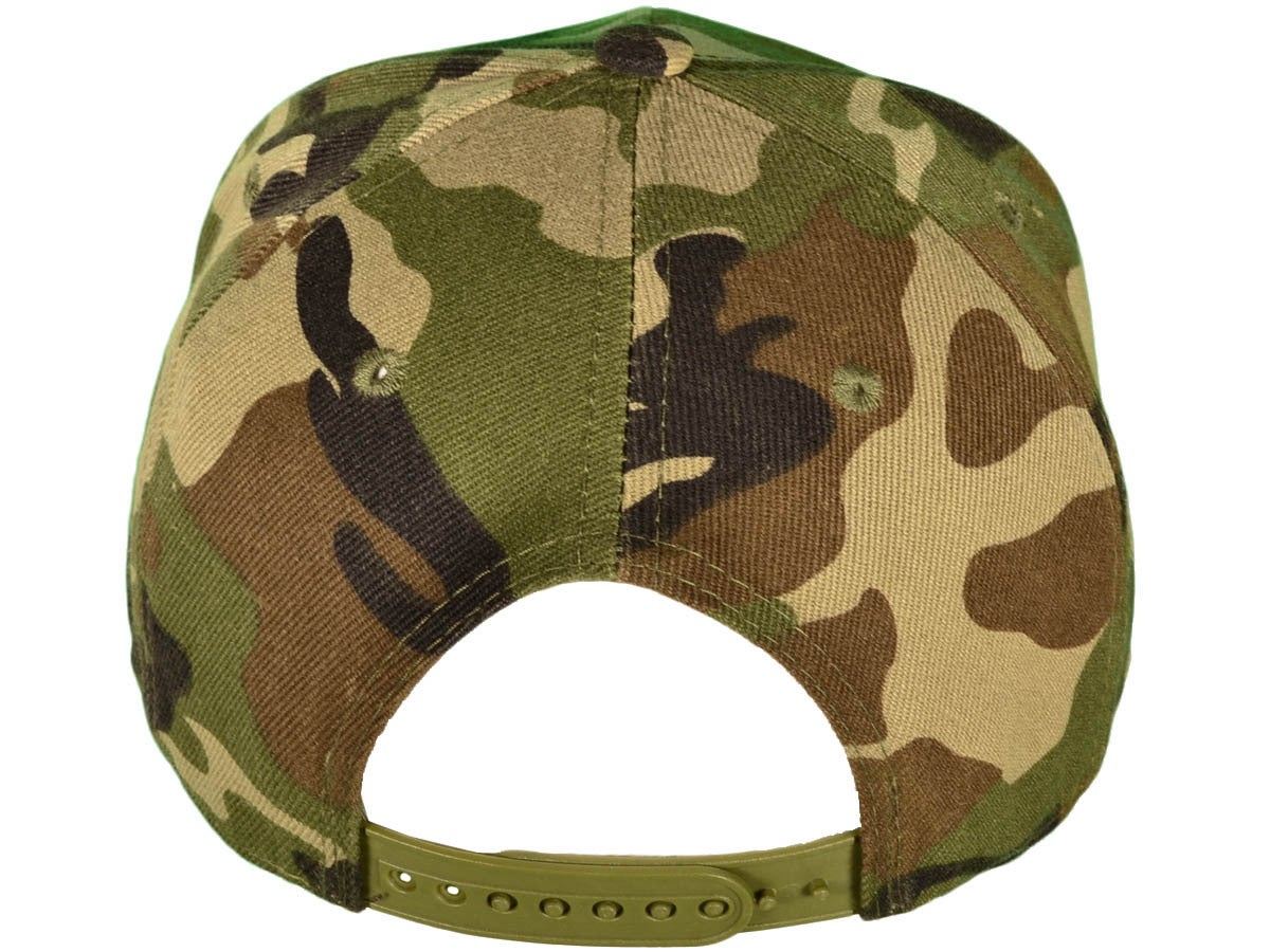 Image of MV Hat - CAMO with WHITE 3D EMBROIDERY