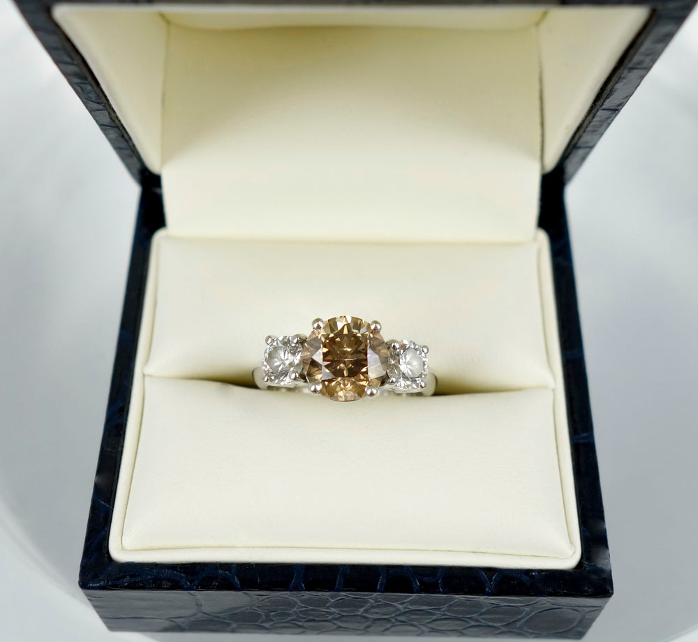 Image of Champagne Diamond Trilogy Ring