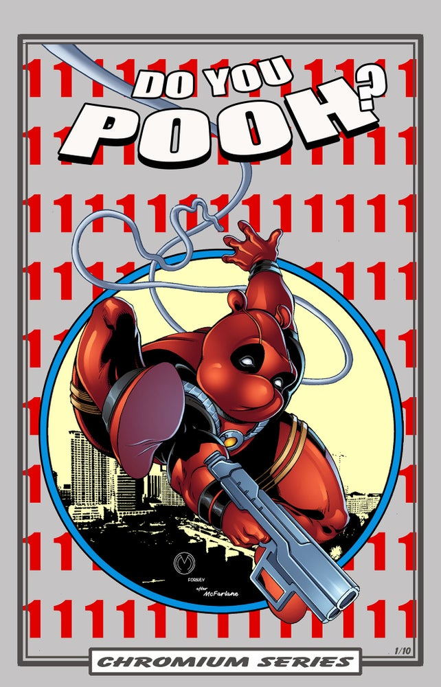 Image of Do You Pooh? #1 Amazing Spider-Man 300 Homage CHROMIUM Series Variant by Marat Mychaels