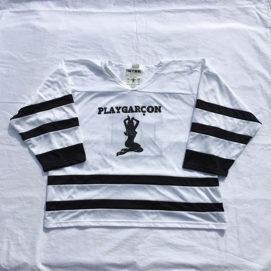 Image of PLAYGARCON Away Hockey Jersey (White)