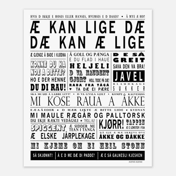 """Image of Sørlandet plakat """"Æ kan lige dæ"""""""