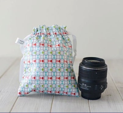 Image of GO PRO Small Camera Bag and Lens Pouch | USA Handmade | Great Photographer Gift Idea