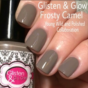 Image of Glisten & Glow Frosty Camel - Young Wild and Polished Collaboration