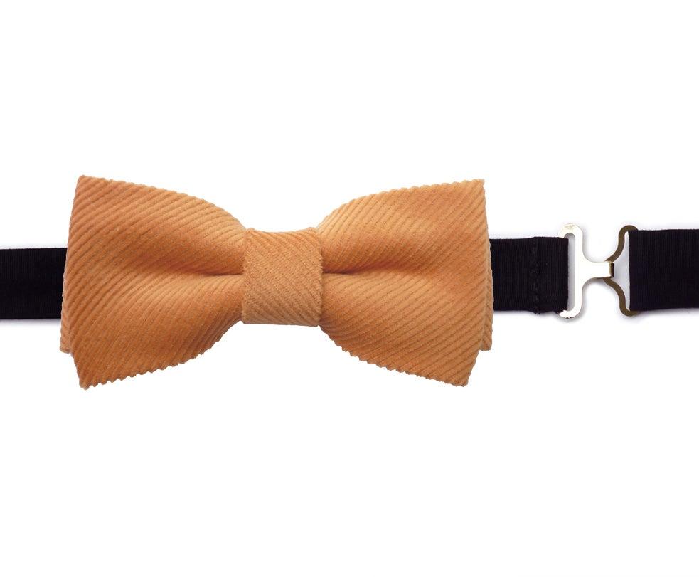 Image of Salmon Corduroy Bow tie