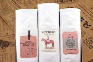 Image of Box of III Men's Handkerchiefs: Horse Race