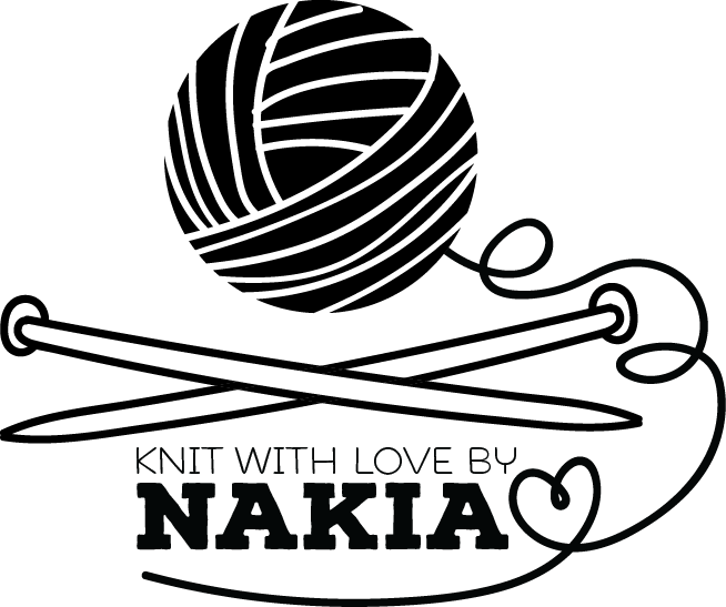 Image of Knit with love by personalized stamp