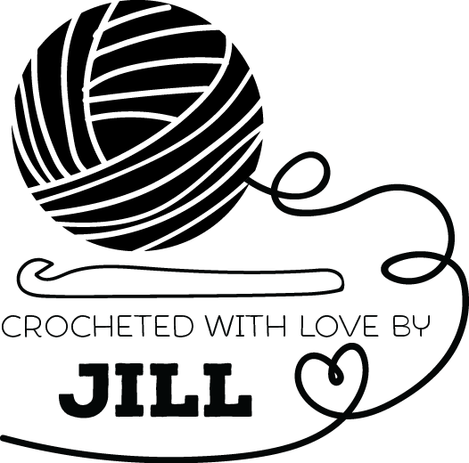 Image of Crocheted with love by personalized stamp