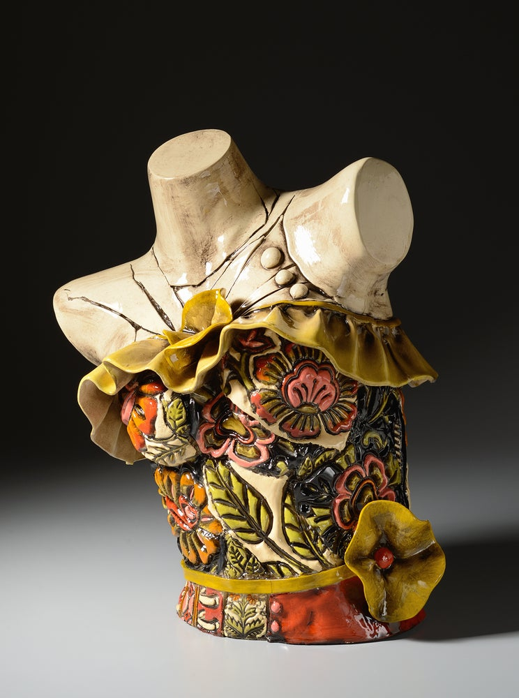Image of 1950's Ruffled Dress Torso