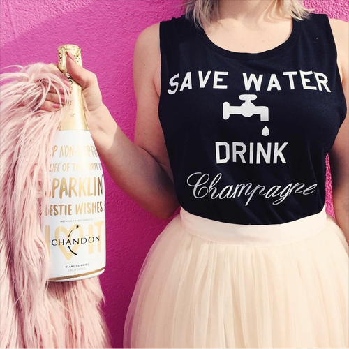 Image of SAVE WATER DRINK CHAMPAGNE muscle