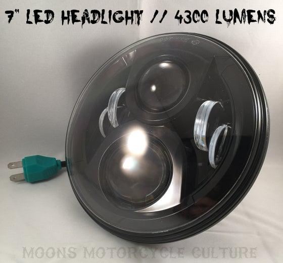 """Image of 7"""" Black Moonmaker LED Headlight For Harley"""