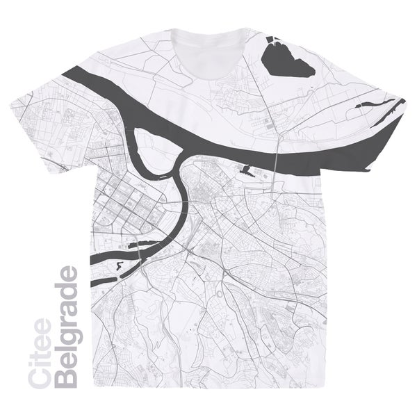 Image of Belgrade map t-shirt