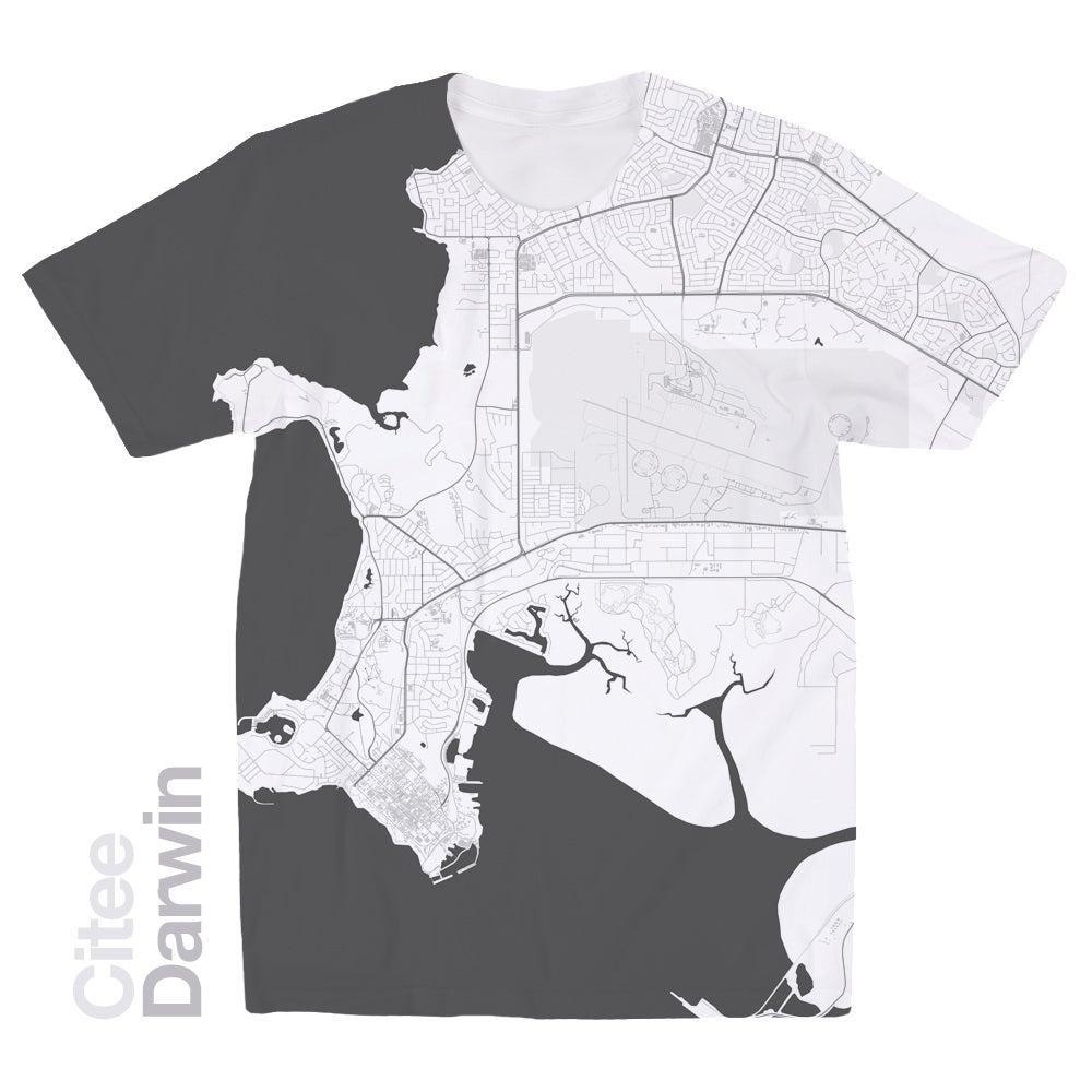 Image of Darwin map t-shirt