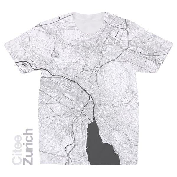 Image of Zürich map t-shirt