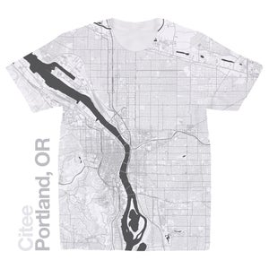 Image of Portland OR map t-shirt