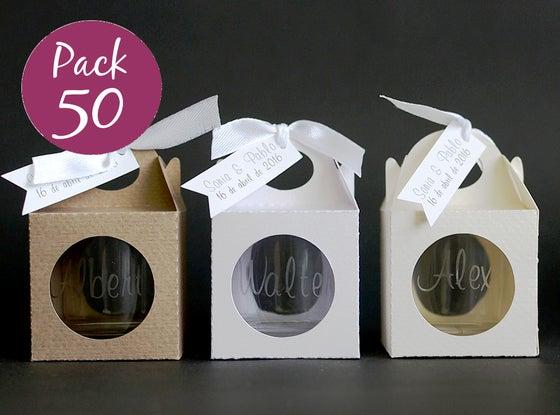 Image of Pack 50 vasos chupito personalizados