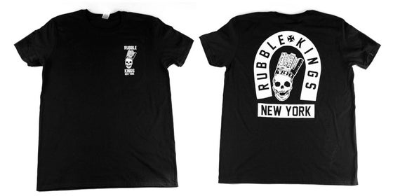 Image of Rubble Kings Black Skull NY T
