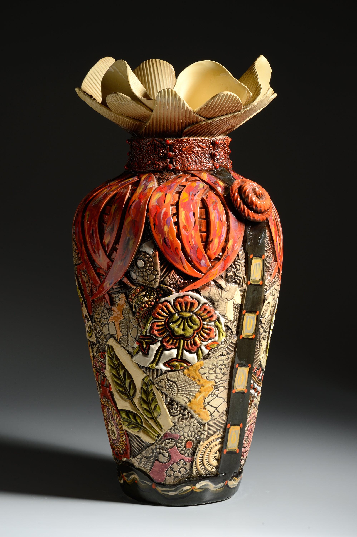 Extra Large Floor Vase With Narrow Bottom Gail Markiewicz