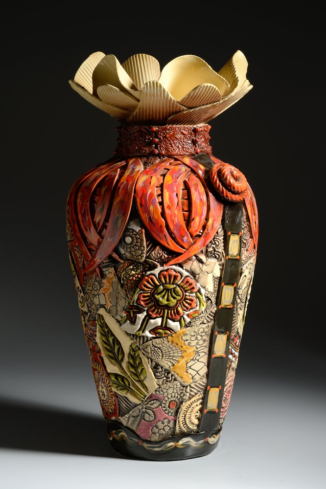 Image of Extra Large Floor Vase with Narrow Bottom