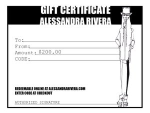 Image of $200 gift certificate