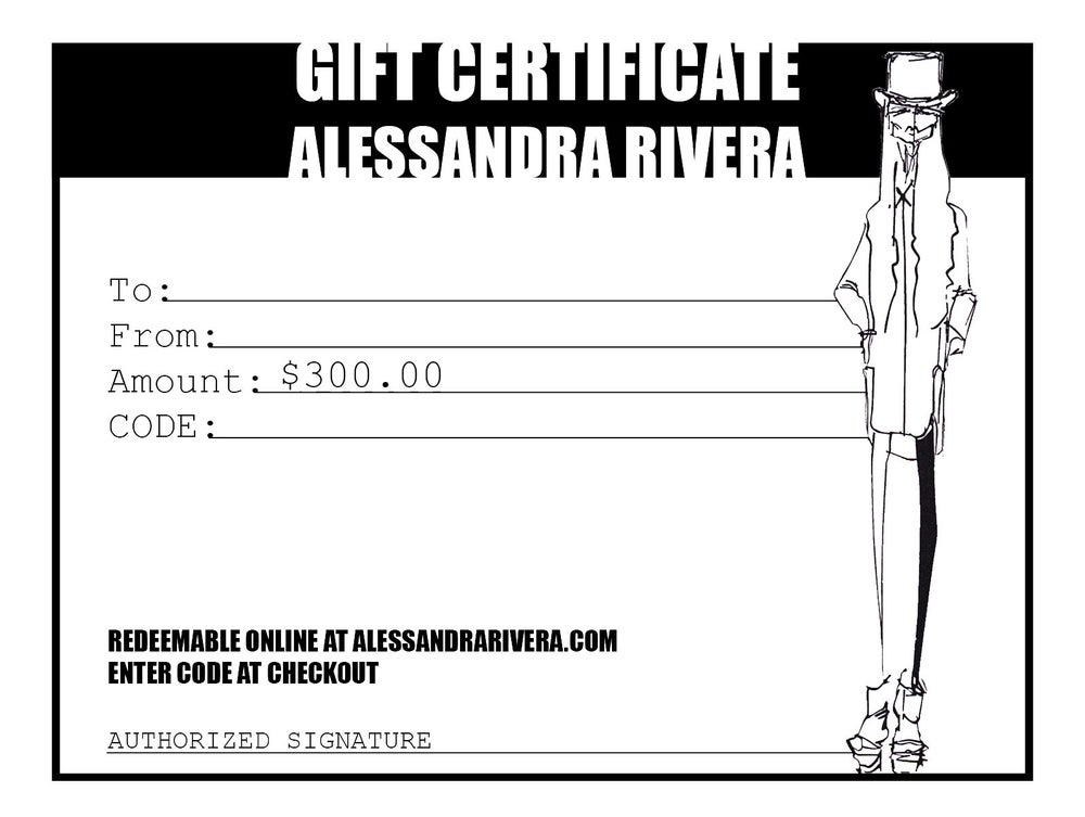 Image of $300 gift certificate