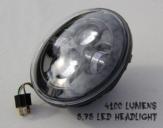Image of 5.75 Black Moonmaker LED Headlight For Harley