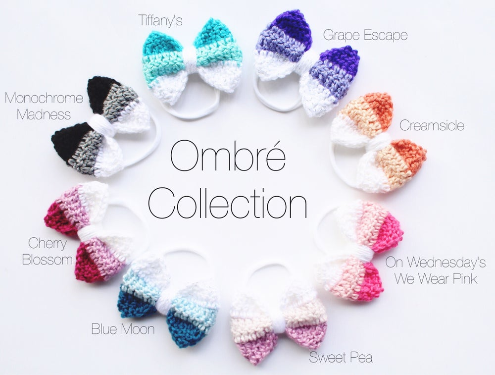 "Image of The "" Ombré "" Bow Collection"