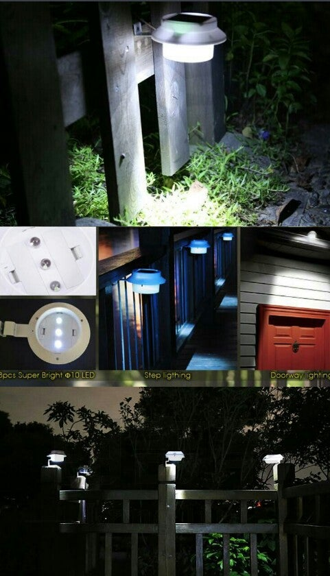 image of solar powered outdoor lamp