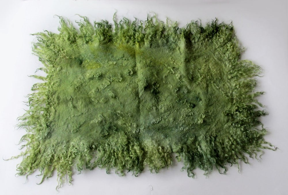 Image of Curly Layer, Baby Wool Wrap, Felt Mat , Layer Napkin