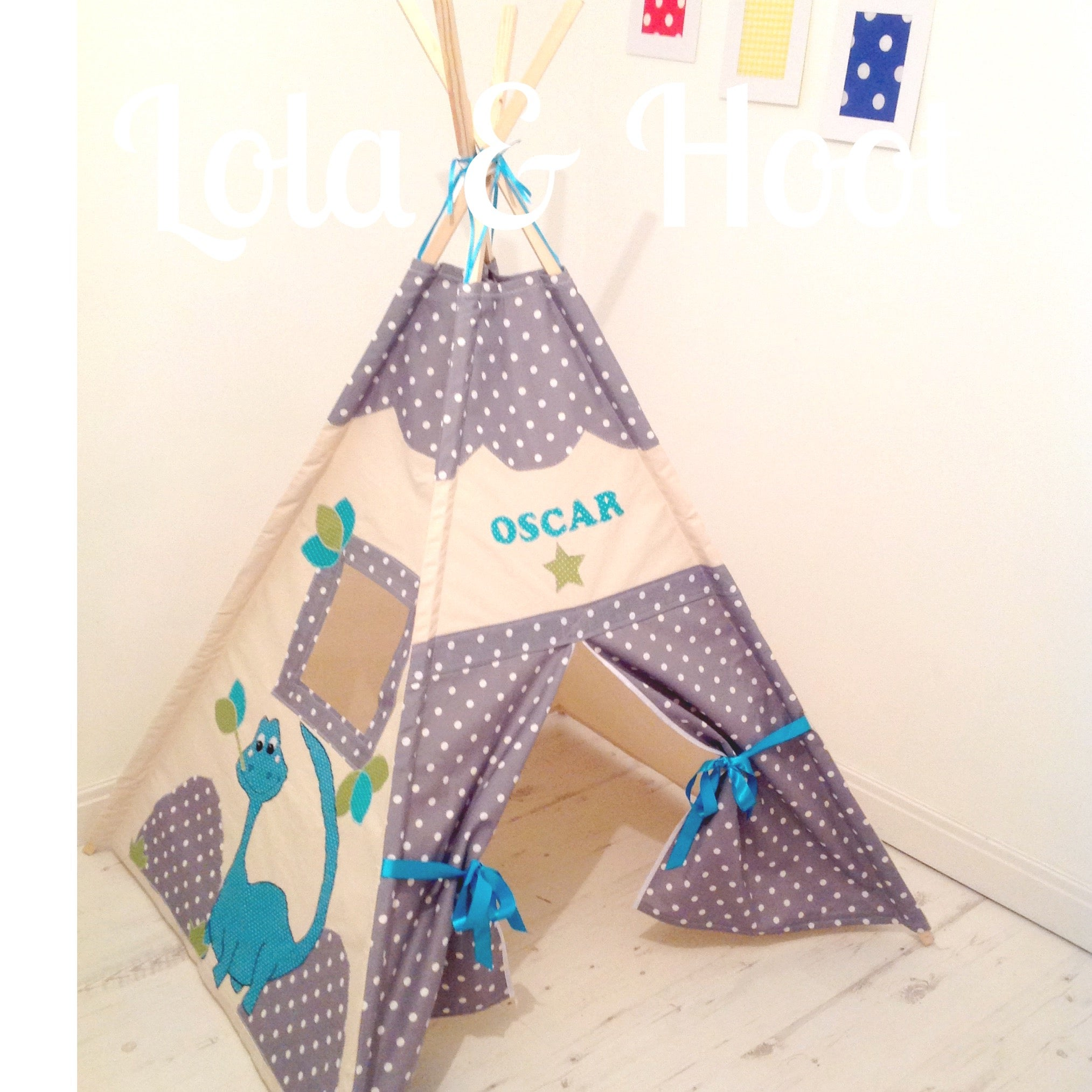 A Beautiful Play Teepee, Made From 100% Strong, Durable Unbleached
