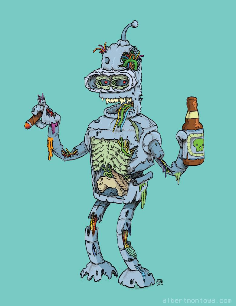 "Image of Print ""Zombie Bender"""