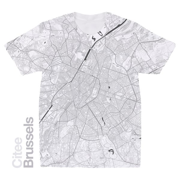 Image of Brussels map t-shirt