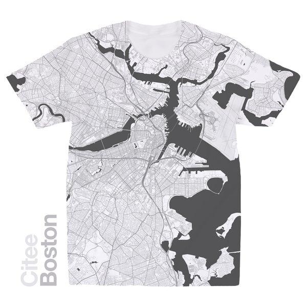 Image of Boston MA map t-shirt