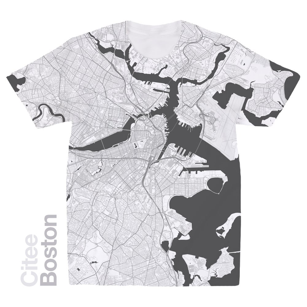 Image of Boston MA map t-shirt