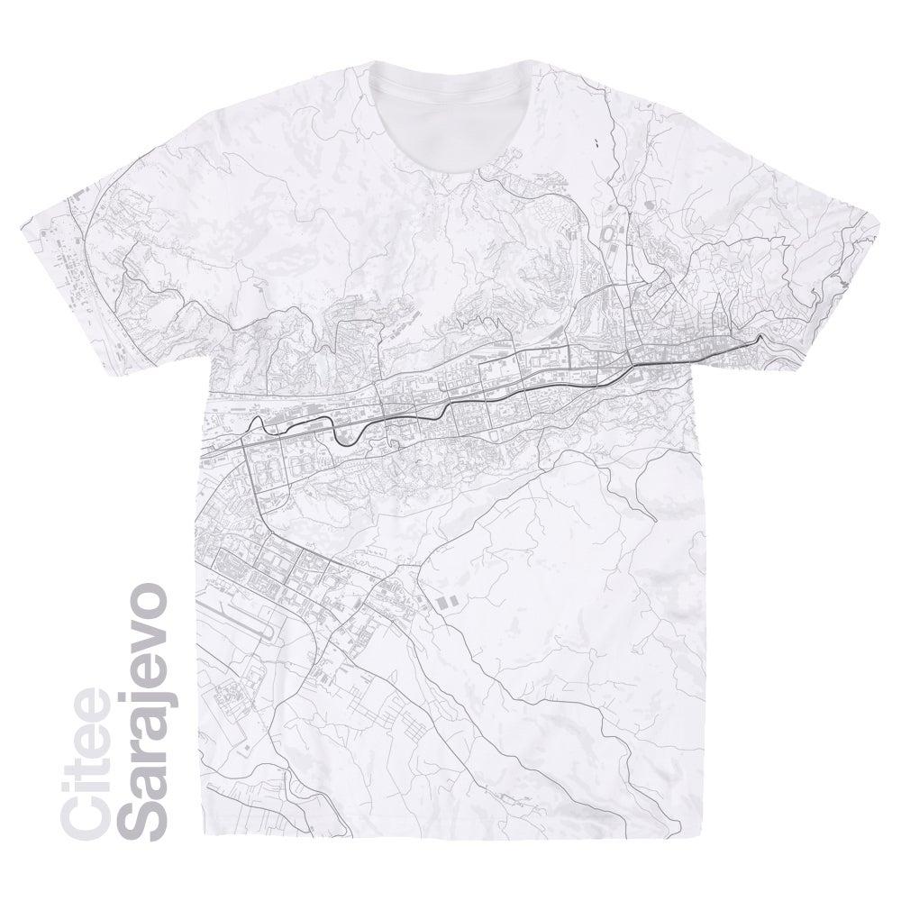 Image of Sarajevo map t-shirt