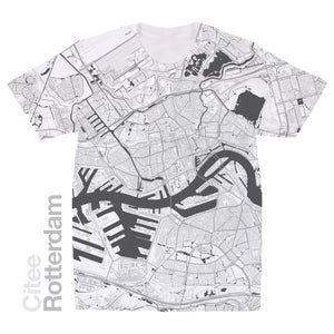 Image of Rotterdam map t-shirt