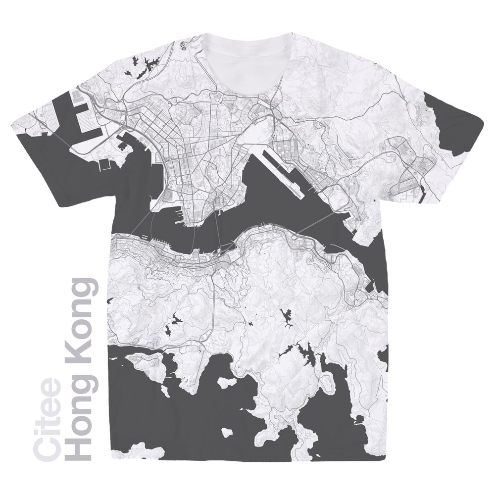 Image of Hong Kong Island map t-shirt