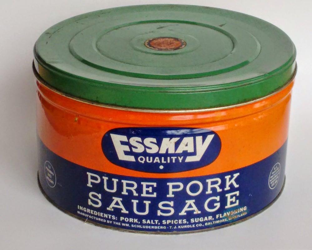 Image of Vintage Esskay Sausage Tin