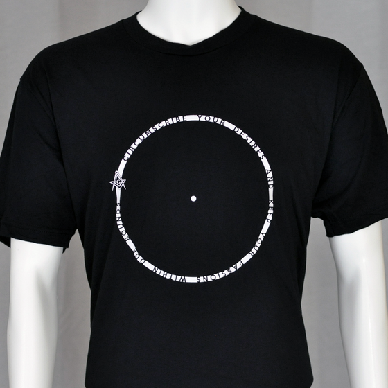 Image of Point within a circle t-shirt