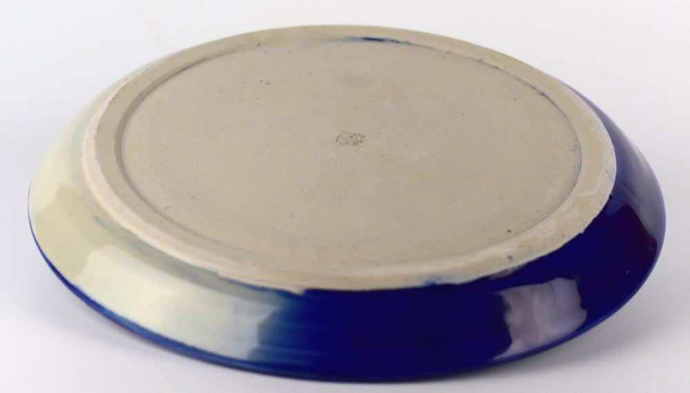Image of Cobalt Blue Floral Plate